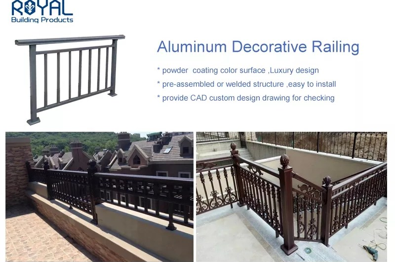 Black Powder Coated Aluminum Preassembled Deck Stair Railing Buy   Pre Assembled Stair Railing   Deckorators   Balusters   Pressure Treated   Stainless Steel   Wood