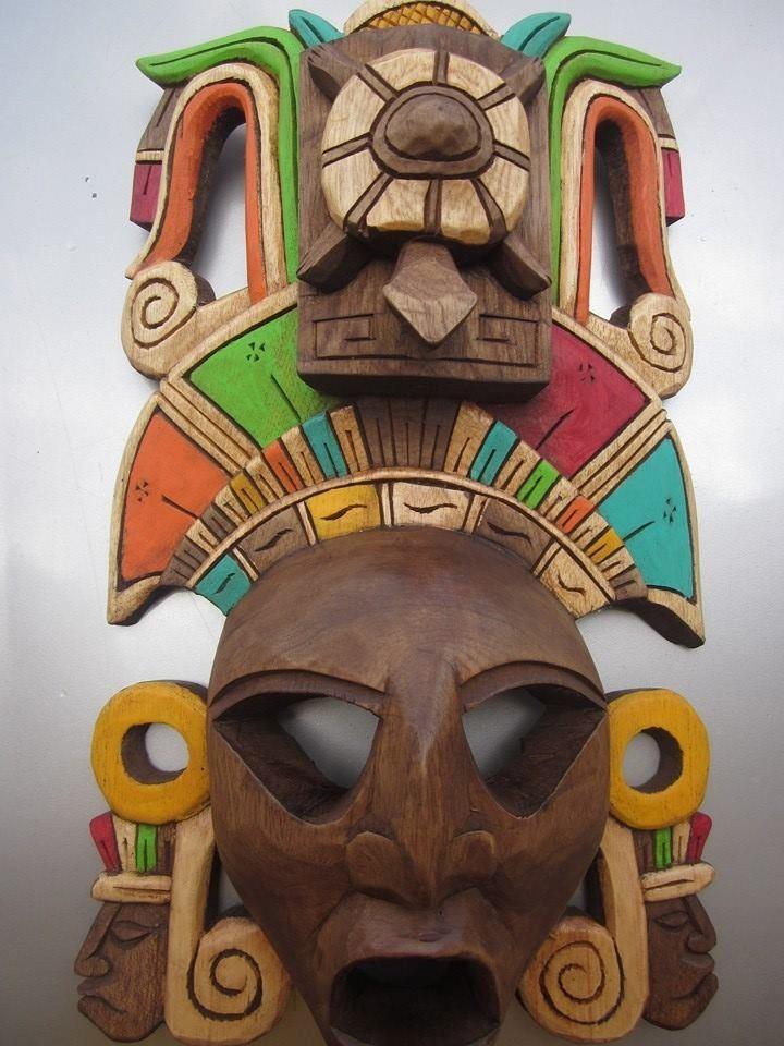 Native Mexican Mayan Masks Handmade Mask Buy Tribal