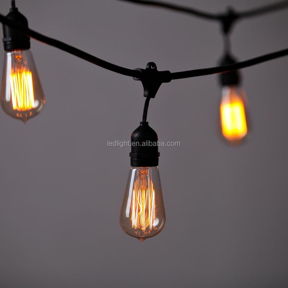 Outdoor Use Ip 67 Led Patio Light Strings E27 Bulb Heavy