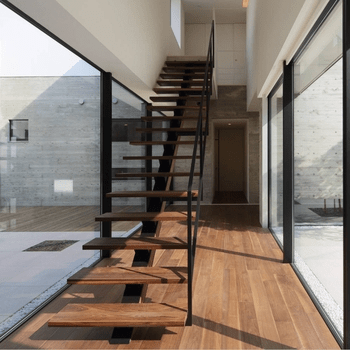 Low Cost Design Stair Case Used Indoor Steel Glass Straight | Stairs Design For Small Space | Steel | Space Saving | Limited Space | Unique | Residential