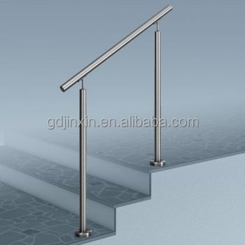 Stainless Steel Stair Step Safety Exterior Handrail Designs Safety | Steel Handrails For Outdoor Steps | Tubular Steel | Steel Handrail Style Kerala Staircase | Stainless | Commercial | Residential