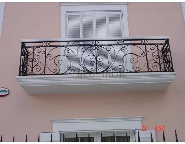 Modern Iron Balcony Railings Designs Outdoor Hand Railings For | Wrought Iron Hand Railing Exterior | Cast Iron | Steel | Steps | Deck | Iron Stair Rail
