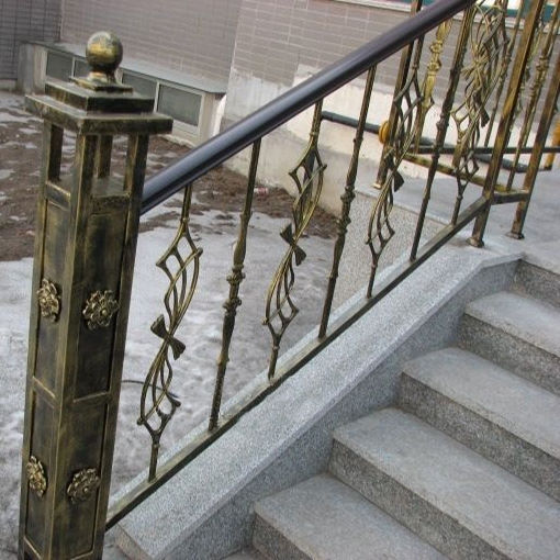 Top Selling Modern Wrought Iron Handrails Outdoor Stair Covering | Wrought Iron Steps Outdoor | Outdoor Metal Stairs With Landing