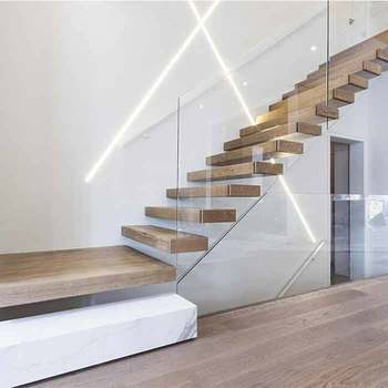 Apartment Villa Container House Modern Hidden Invisible Stringer | Designer Stairs For Houses | Cool | Contemporary | Fancy | Residential | Interior