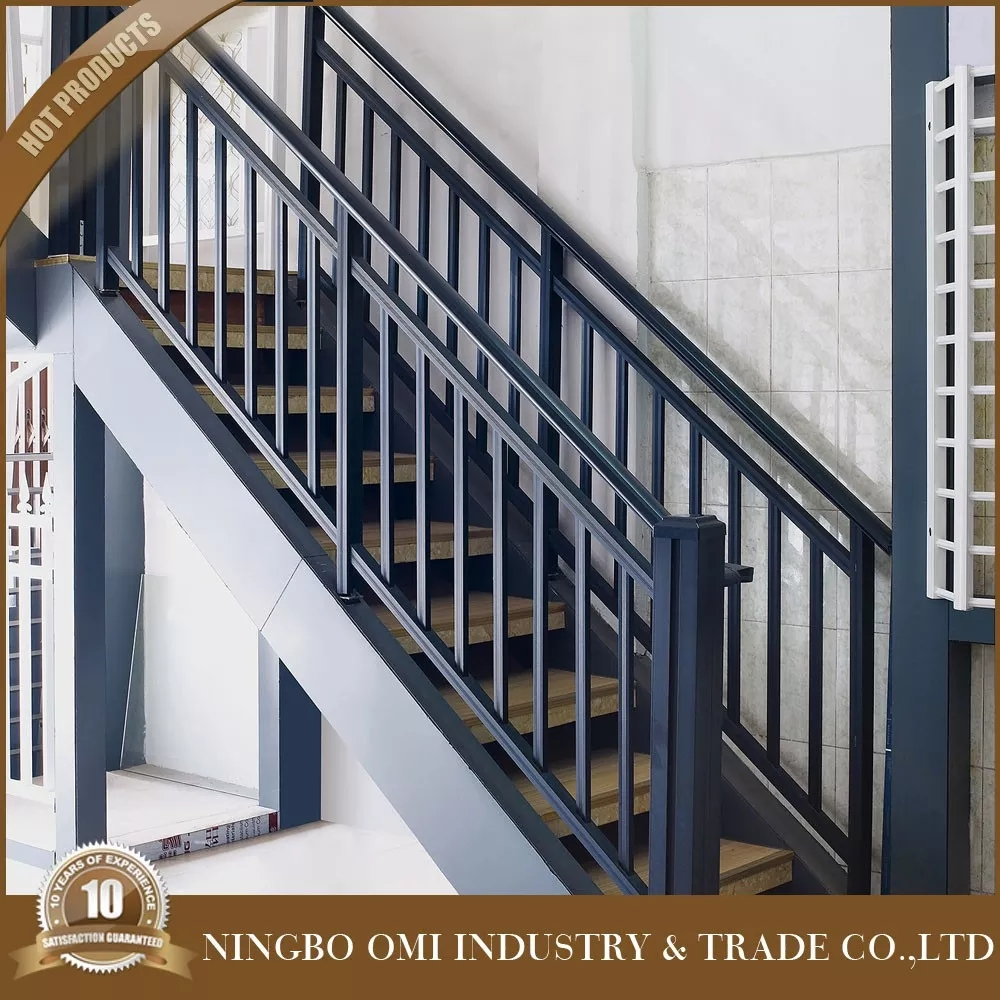 Decorative Metal Stair Railing Good Price Simple Design Aluminum   Metal Stair Railing Indoor   Exterior Metal   Staircase   Stair Residential Building   Cost Glass   Traditional