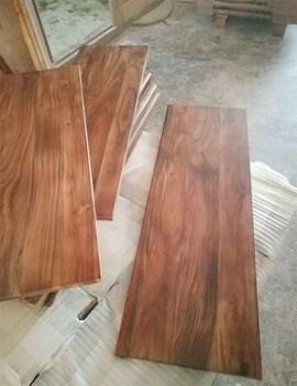 Acacia Walnut Solid Wood Stair Tread View Acacia Stair Tread | Wood Floor Stair Treads | Brazilian Cherry | Stair Nosing | Oak Stair Risers | Vinyl Flooring | Carpet