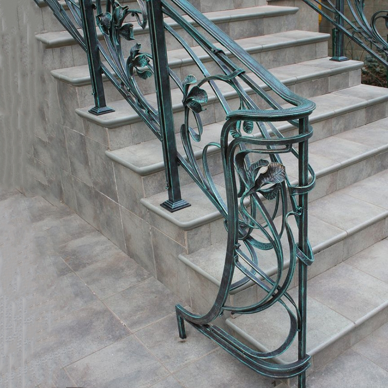 China Wrought Iron Galvanized Modern Handrails Outdoor Stairs   Wrought Iron Handrails For Outdoor Steps   Patio   Deck   Rustic Iron   Contemporary   Pipe