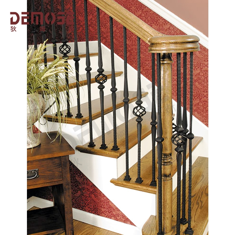 Demose Wrought Iron Stair Railings For Wood Satir Buy Wrought | Metal Handrails For Indoor Stairs | Baluster | Indoor Outdoor | Staircase Remodel | Stainless Steel | Stair Treads
