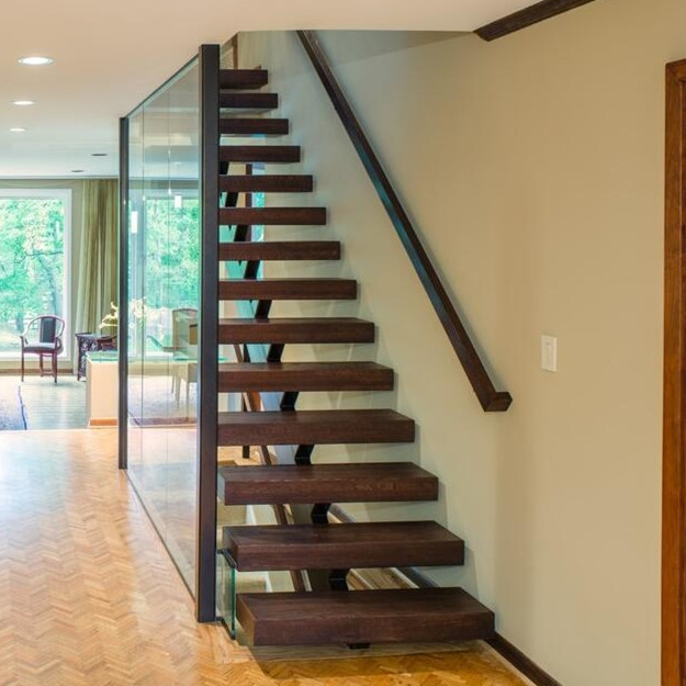 Prefabricated Steel Stringer Timber Stairs Staircase Buy   Steel And Timber Stairs   90 Degree External   Architectural   Modern   Contemporary   House