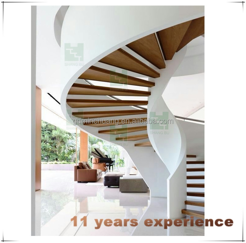 Modern U Shaped Arc Stairs Rubber Wood Curved Staircase Buy   Modern U Shaped Staircase   Design   Floating   Interior   Amazing Modern   Oval Shaped