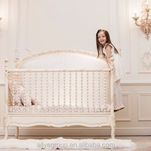 Wy110 Luxury Ivory And Golden Baby Crib Wooden Design Royal Princess     WY110 Luxury Ivory and golden baby crib wooden design royal princess baby  bed