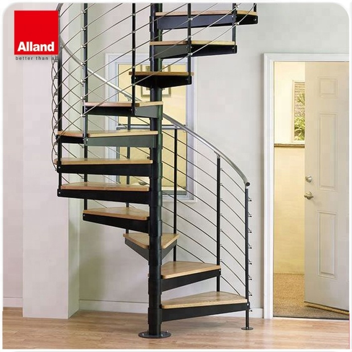 Modern Durable Stair Design Steel Wood Spiral Staircase For Small | Stair Plans For Small Spaces | Residential | Simple | Backyard Cottage | Fine Homebuilding | Small Opening