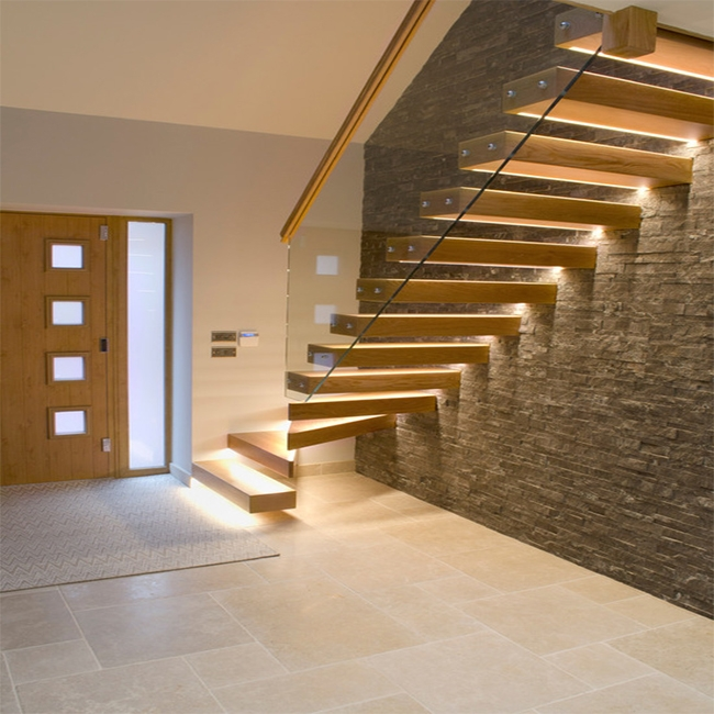 Prima Floating Stairs Wood Wall Side Stringer Stairs Buy 2 Sided | Stair Side Wall Tiles Design | Contemporary | Stencil | Outside | Single | Stair Outdoors