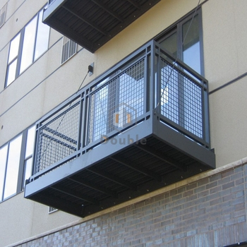 Galvanized Steel Welded Wire Mesh Deck Railing View Deck Railing | Wire Mesh Stair Railing | Exterior Perforated Metal | Galvanized Mesh | Staircase | Modern | Mesh Balustrade