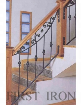 Antique Wrought Iron Wooden Stair Railings Buy Interior Wrought | Iron And Wood Staircase | Traditional | Spiral | White | Internal | Cherry Wood