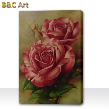 High Quality Art Beautiful Realistic Rose Flowers Oil ...