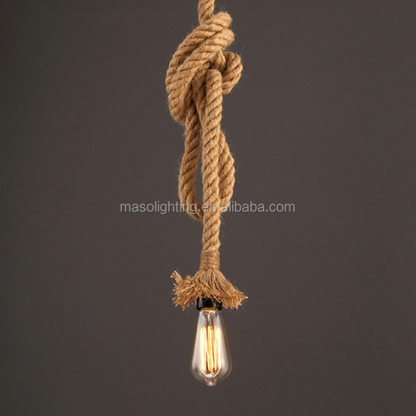 pendant lighting with rope # 86