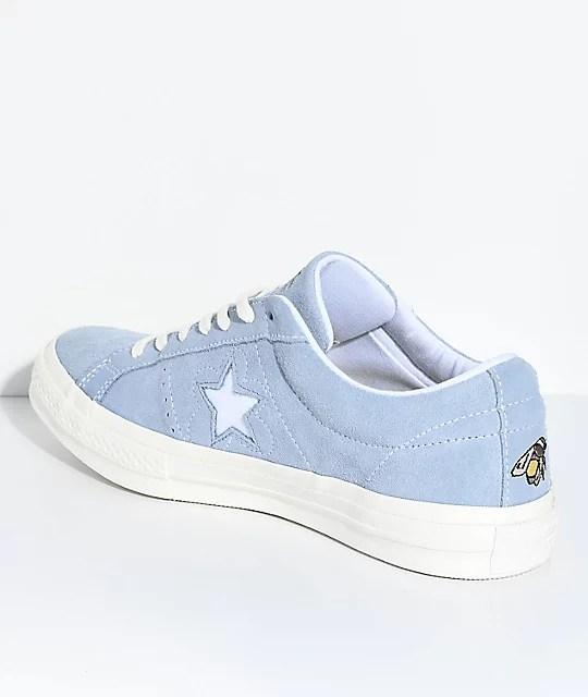 Converse x Golf Wang One Star Le Fleur Blue Shoes | Zumiez