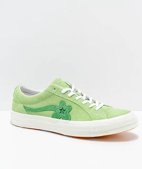 Converse x Golf Wang One Star Le Fleur Jade Lime Shoes ...