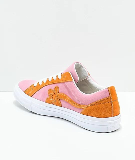 Converse x Golf Wang One Star Le Fleur Pink & Orange Peel ...