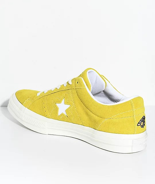 Converse x Golf Wang One Star Le Fleur Sulphur Shoes | Zumiez