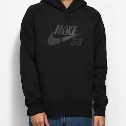 4929d34e15b9 Nike Sb Icon Black Hoodie Zumiez