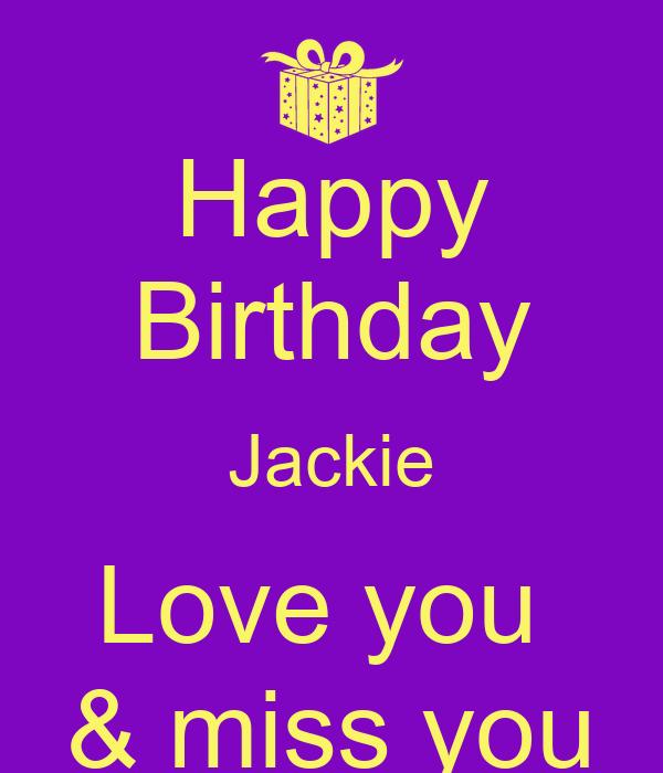 Keep Calm And Love Jackie