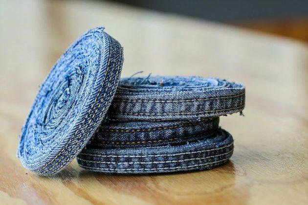 Подстаканники из джинсов