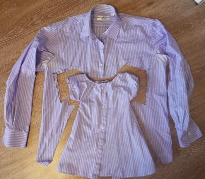 シャツからの子供のドレス