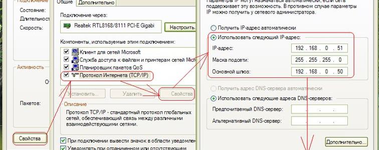 Handmatig instellen IP