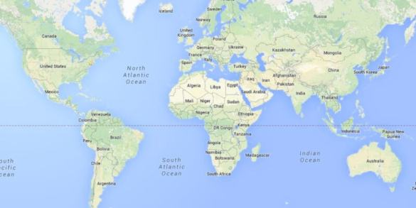 Google Maps desktop now shows the world as a spinnable globe     You can give it a try yourself by visiting www google com maps