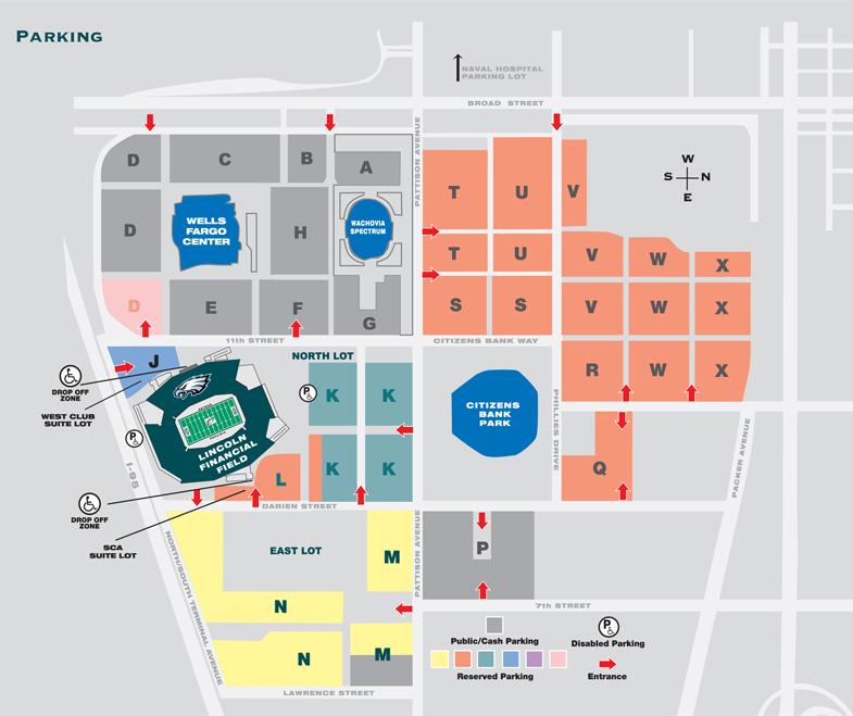Map Of Wells Fargo Center Philadelphia