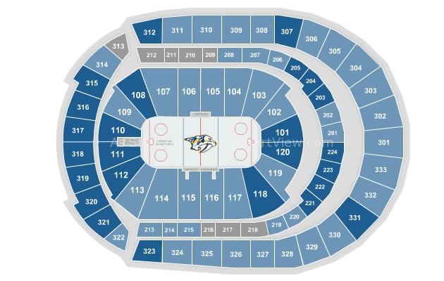 Seating Arena Cma Chart Bridgestone