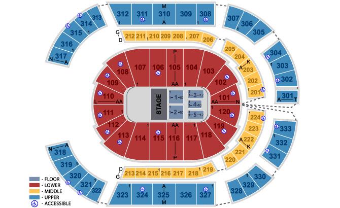 Numbers Chart Seating Bridgestone Seat Arena