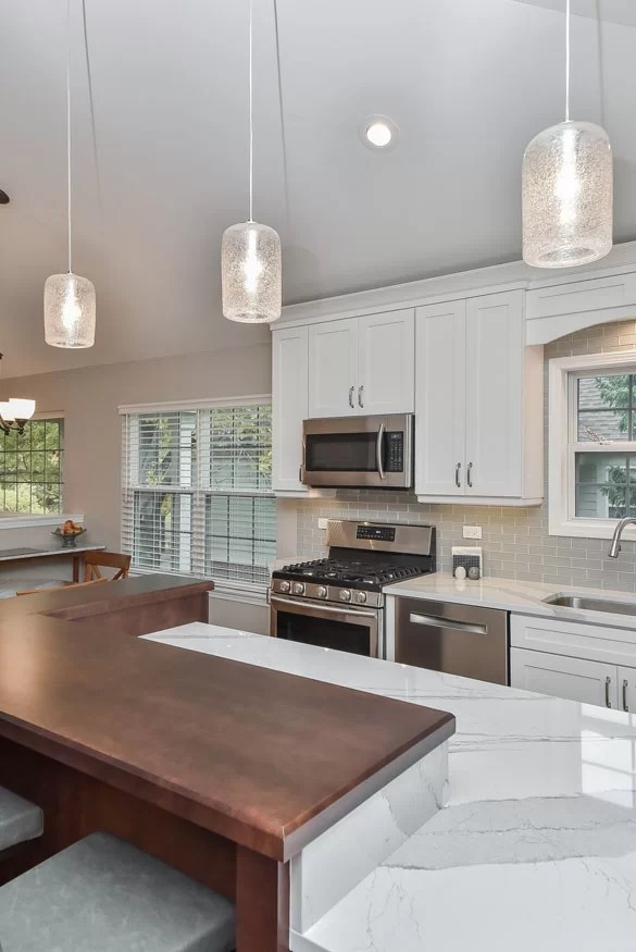pendant lighting over kitchen island # 6