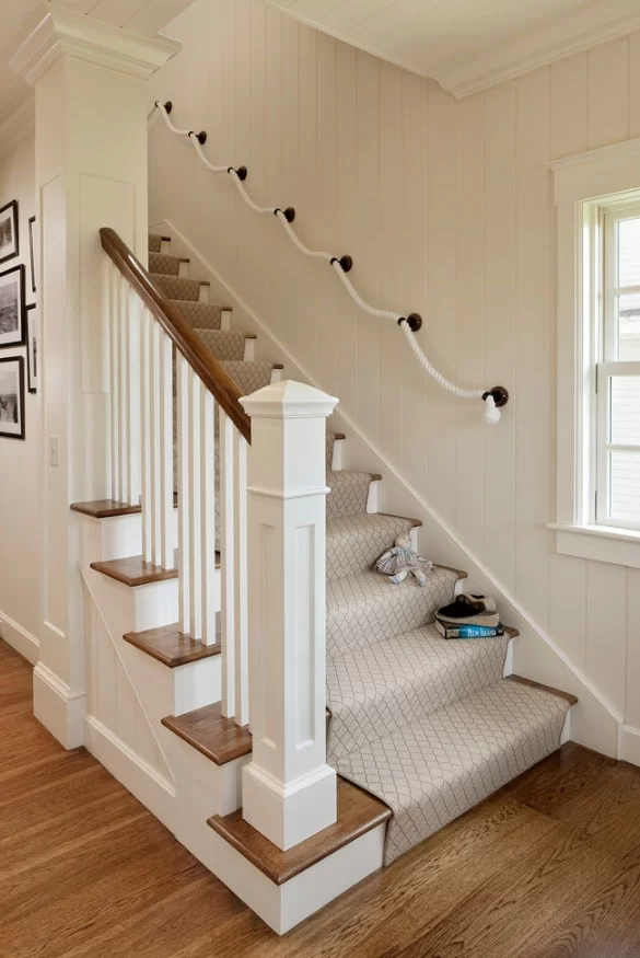 95 Ingenious Stairway Design Ideas For Your Staircase Remodel | Stairs Wall Paint Design | Designer | Fancy | Beautiful | Staircase Railing Wood | Wall Colour