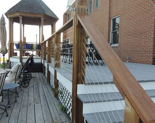 35 Unique Deck Railing Ideas Sebring Design Build   Building Deck Stair Railings   Composite Decking   Outdoor Stair   Stair Treads   Porch Railing   Stair Stringers