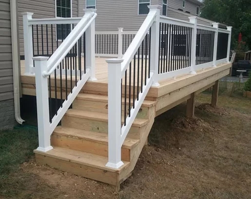 35 Unique Deck Railing Ideas Sebring Design Build   Exterior Stair Railings Near Me   Stair Treads   Porch   Front Porch   Porch Railing   Railing Ideas