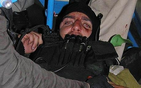 IHH releases pictures of bloody Israeli commando after ...