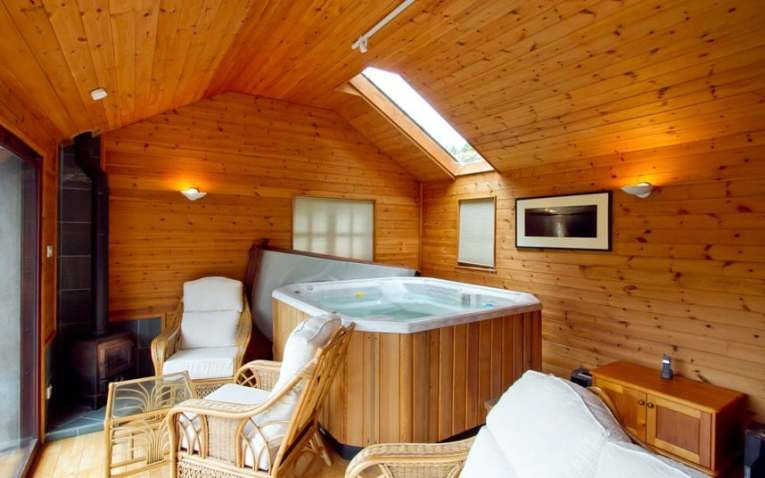 Homes with steam rooms  saunas and hot tubs   Telegraph Sauna room of home in Lake District