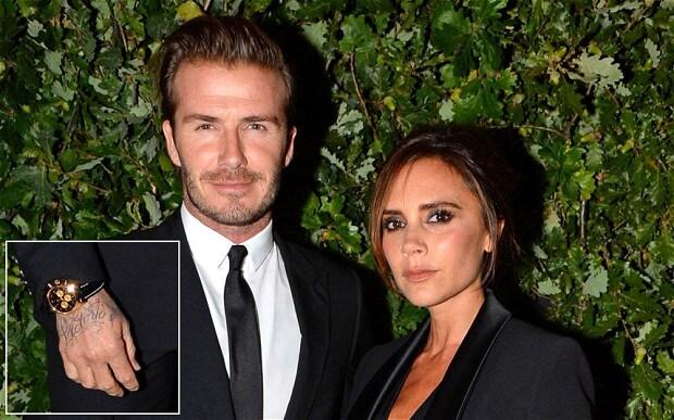David Beckham tattoos 'Victoria' across right hand - Telegraph