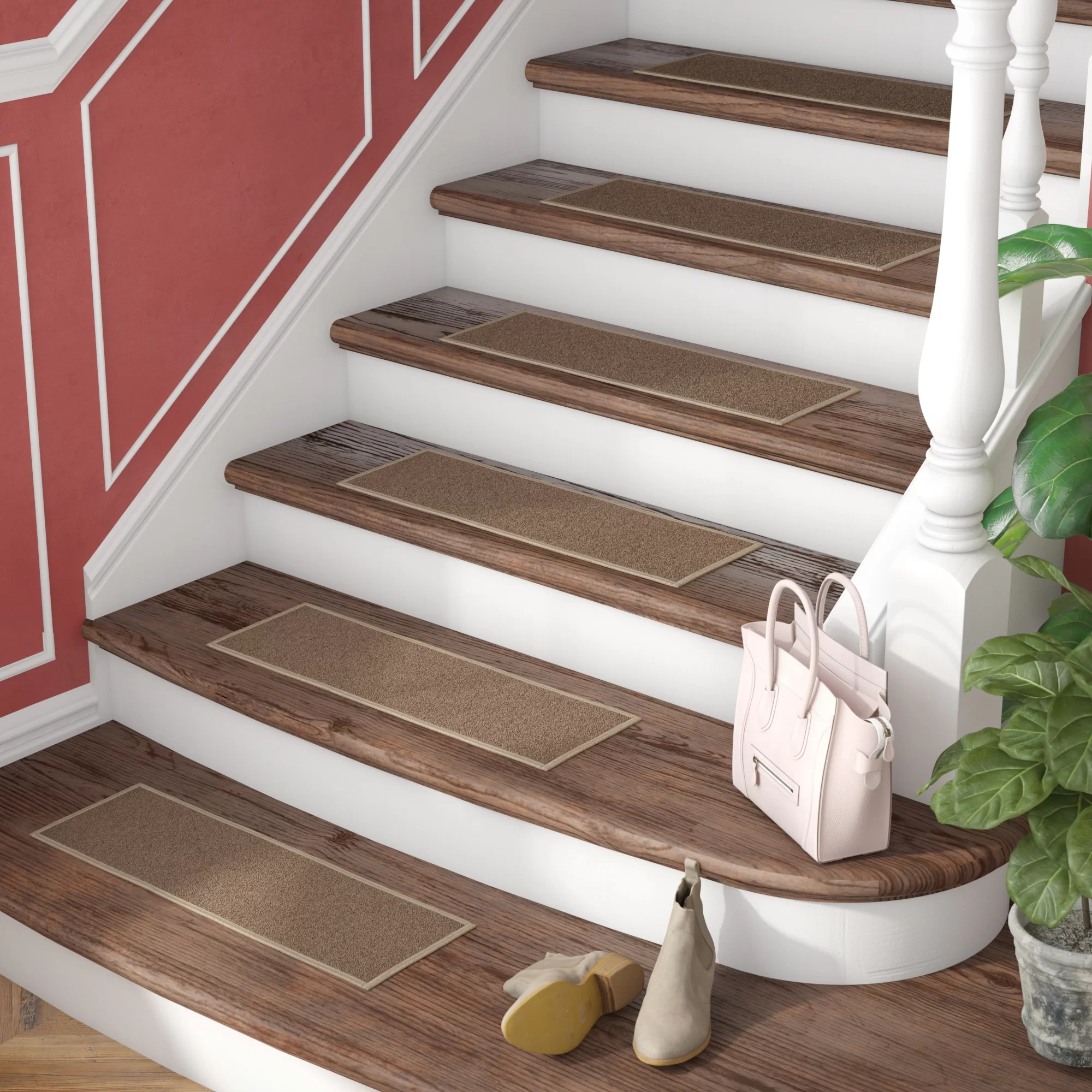 High Traction Vinyl Stair Treads W Tape An Alternative To Carpet   Vinyl And Carpet Stairs   Thin   Indoor   Light   Low Pile   Laminate