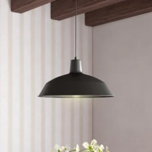Bowl or Inverted Pendants You ll Love   Wayfair Cornelia Industrial Warehouse 1 Light Bowl Pendant