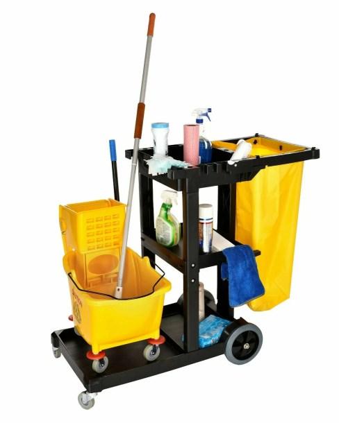Janitorial Platform Cleaning 74 Qt. Mop Bucket