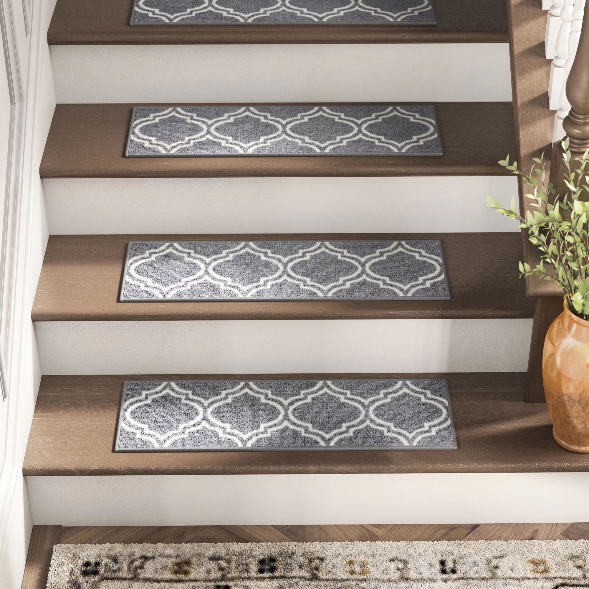 Stair Tread Rugs You Ll Love In 2020 Wayfair | Small Rugs For Stairs | Area Rug | Stair Tread | Wood | Stair Rods | Stair Case
