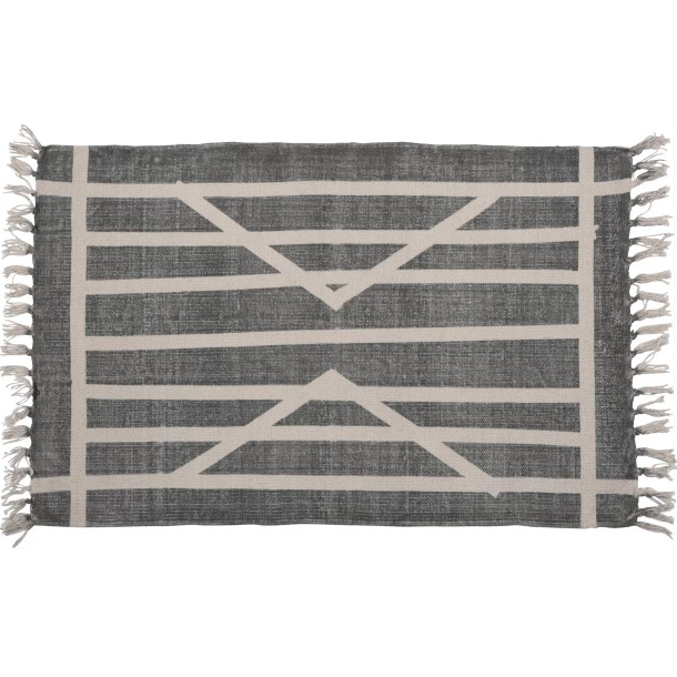Orchard Street Hand-woven Cotton Gray Area Rug
