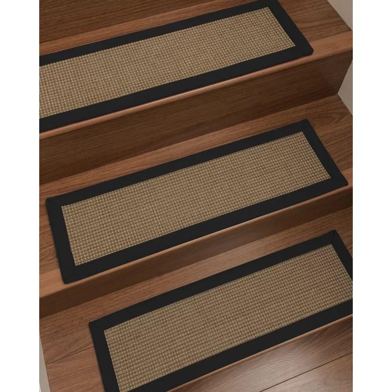 Bayou Breeze Asther Custom Sisal Stair Tread Reviews Wayfair   Wayfair Stair Tread Rugs   Bullnose Carpet   Tucker Murphy   Slip Backing   Non Slip Stair   Skid Resistant