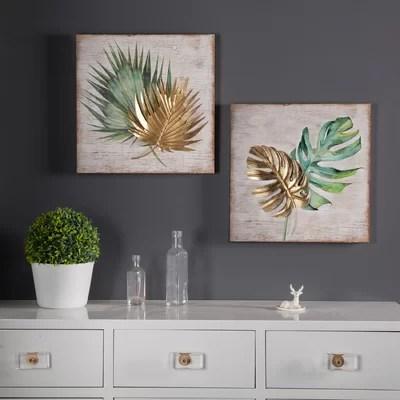 Great 2 Piece Leaf Wall Du00e9cor Set Furniture Online