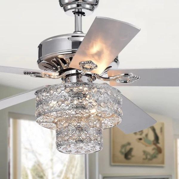 crystal chandelier with fan # 11