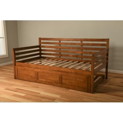Promo Franco Twin Solid Wood Daybed Frame With Trundle Furniture Online